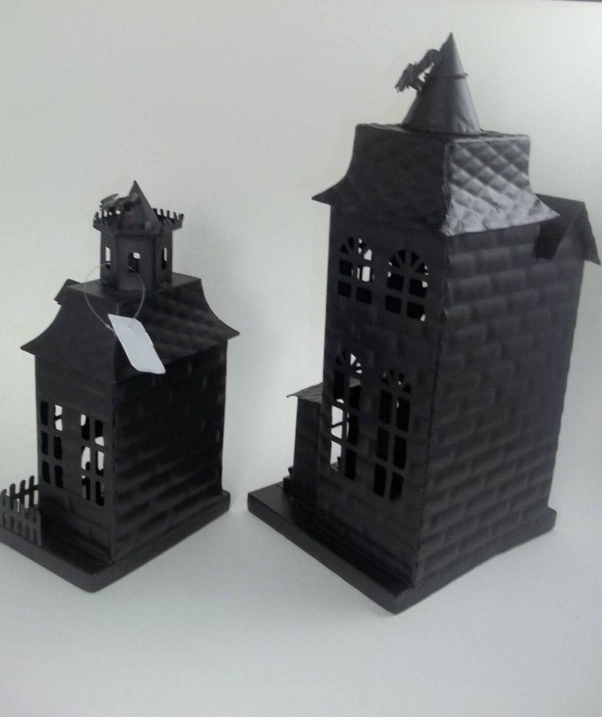 Pottery Barn Haunted House Iron Small Bats Halloween New