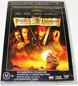 PIRATES-OF-THE-CARIBBEAN-The-Curse-Of-The-Black-Pearl-Dvd-2-Disc-Set