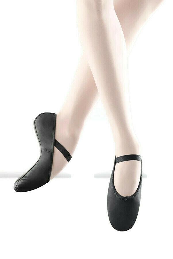 Bloch Arise Leather Ballet Shoes Full Sole Pre Sewn Elastics S0209 Black