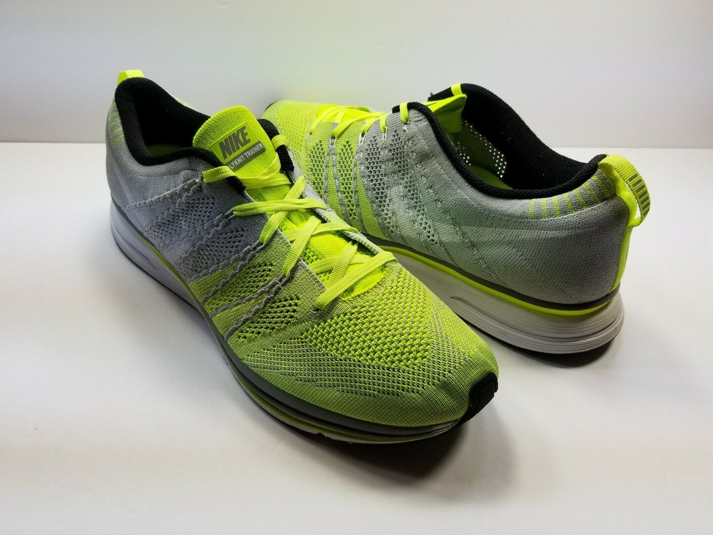 cc1b833f01e NIKE FLYKNIT TRAINER+ GRAY GREEN 532984-714 532984-714 532984-714 - Size 13  d25d12