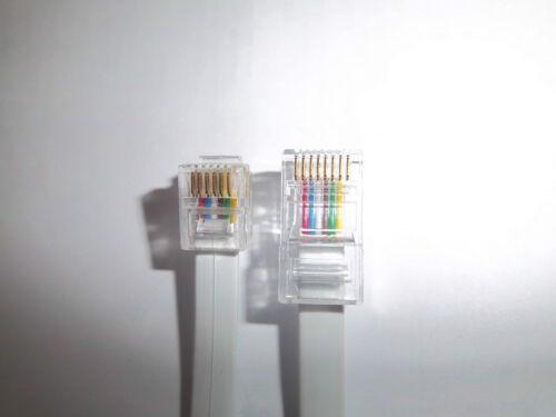Nuevo 6 cables RJ12-RJ45 Cable de datos para varios dispositivos de red