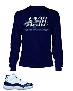 c730ee1739cf68 23 ANTI Tee Shirt To Match AIR JORDAN 11 Navy Long Sleeve Pro Club ...
