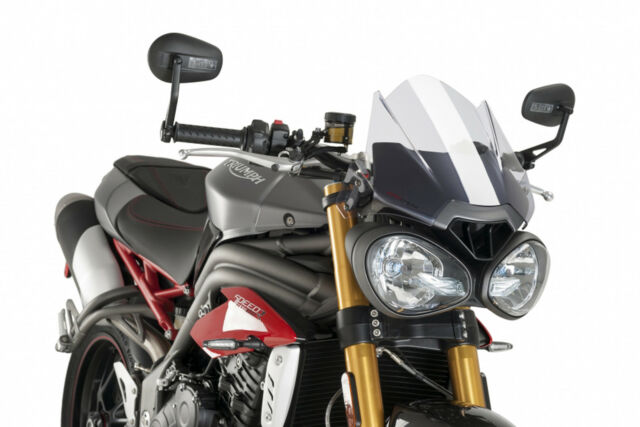 PUIG WINDSHIELD NAKED N.G. SPORT TRIUMPH SPEED TRIPLE R 16-18 CLEAR