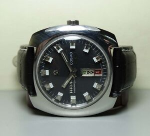 vintage titoni cosmo33 date rotomatic auto swiss mens h441 old image is loading vintage titoni cosmo33 date rotomatic auto swiss mens