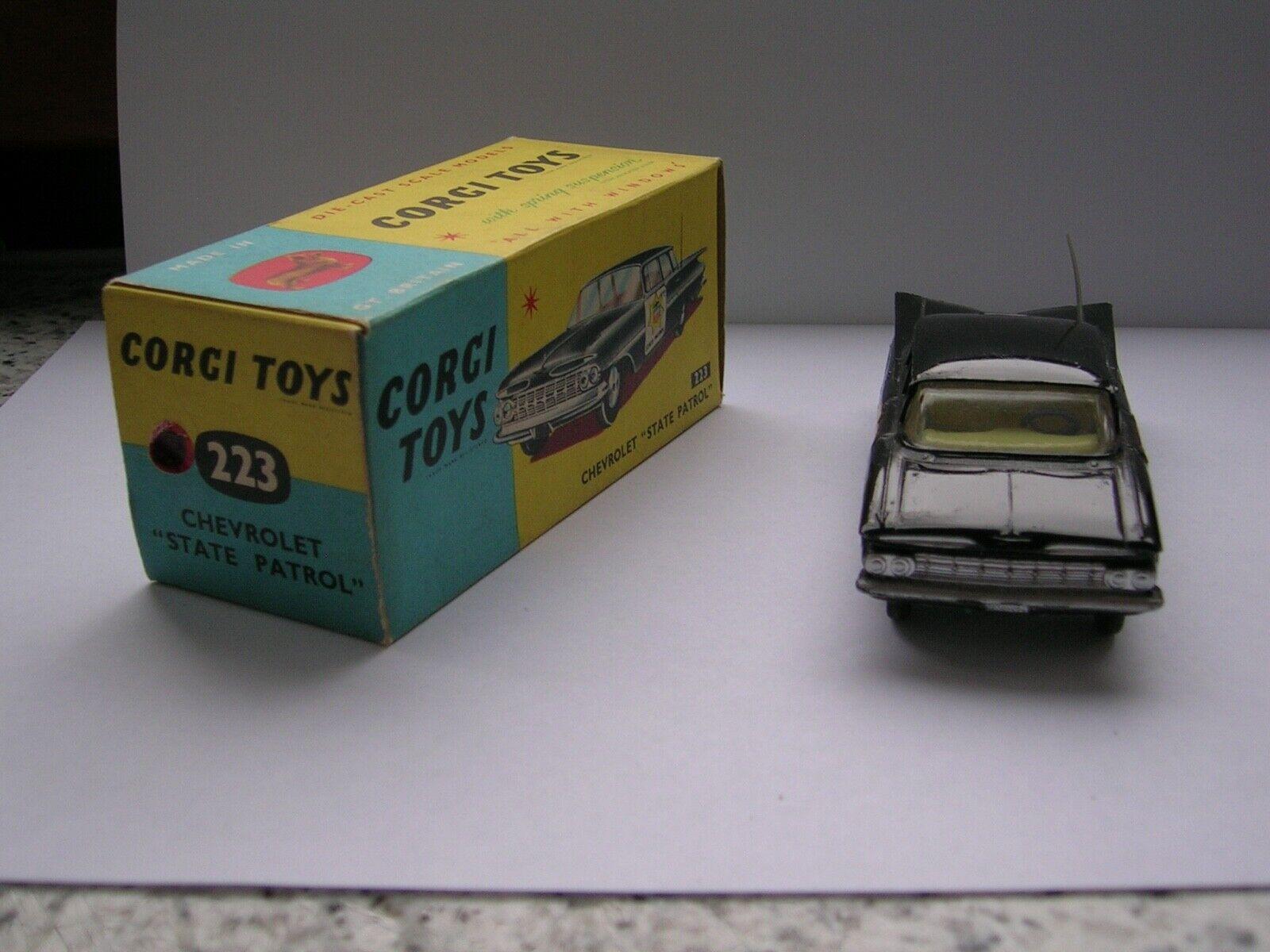 Corgi Toys 223 Chevrolet Impala coche de policía, MIB, envío gratuito Intl