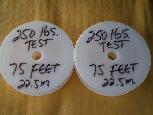 environ 45.72 m environ 113.40 kg -45 M 1X7 Strand manches +60 Test 250 Lb en Acier De Fil noire leader 150 ft S