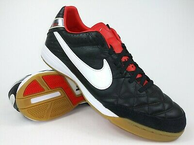 f12153793 Nike Mens RARE Tiempo Mystic IV IC 454333 010 Black White Indoor ...