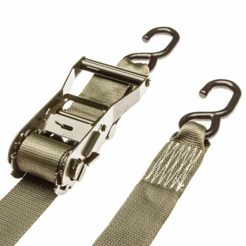 """2/"""" x 27/' Ratchet Straps with S-Hooks 8 Pack"""