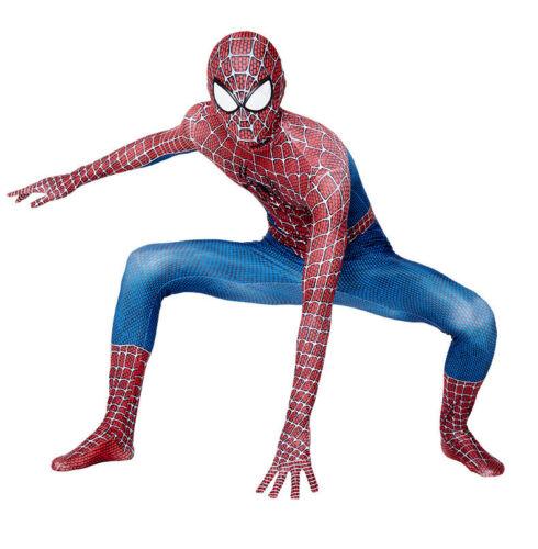 Raimi Spider-man Bodysuit Spiderman Cosplay Costume For Adult /& Kids Halloween