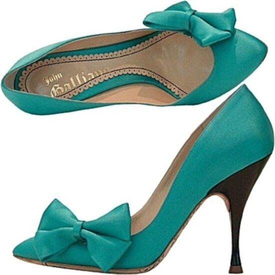 John Galliano court shoes satin bow, bow satin pumps