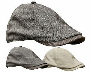STETSON LINEN COTTON BLEND GATSBY Cap Men Duckbill Newsboy Ivy Hat ... 77dd3e31d5e