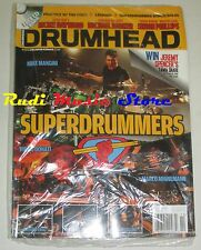 DRUMHEAD Magazine SEALED Lug Ago 2008 + Cd Mike Mangini Virgil Donati  Minnemann