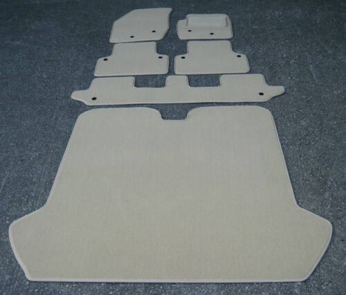 Car Mats in Beige SUPER VELOUR to fit Volvo XC90 20022014 6 Piece Full Kit