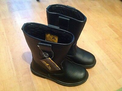Mens Tan Rigger Steel Toe Cap Boots Size 7 New Shop Clearance RRP £44.99