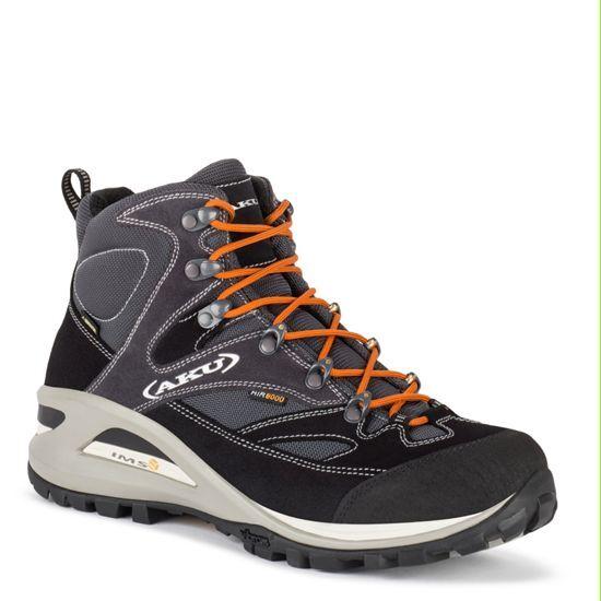 Schuhe Aku 342 Transalpina GTX -082 Blau   Orange-40