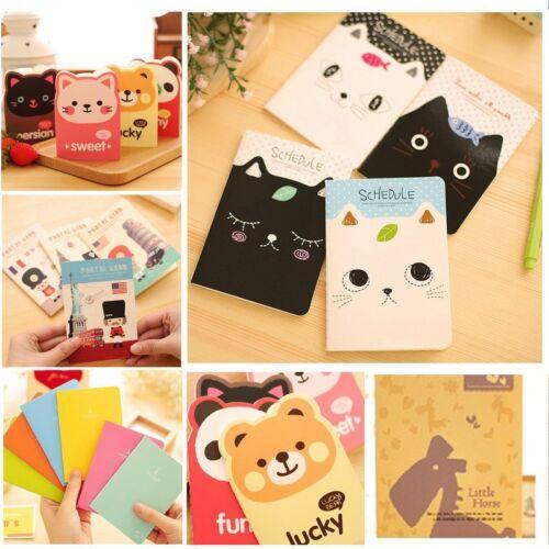 2Pcs//set Cartoon Kids Animal Diary Journal Notebook Mini Notepad Gift Stationery
