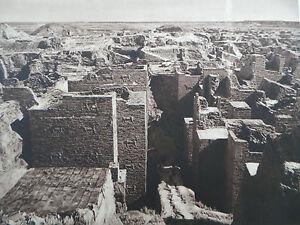 1925 babylon ishtar gate excavation mesopotamia sepia photogravure