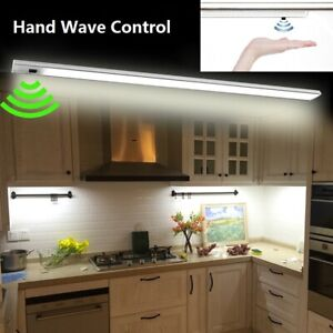 LED Hand Wave Under Cabinet Light Infrared Sensor Rigid Strip Bar Light Kitchen | EBay