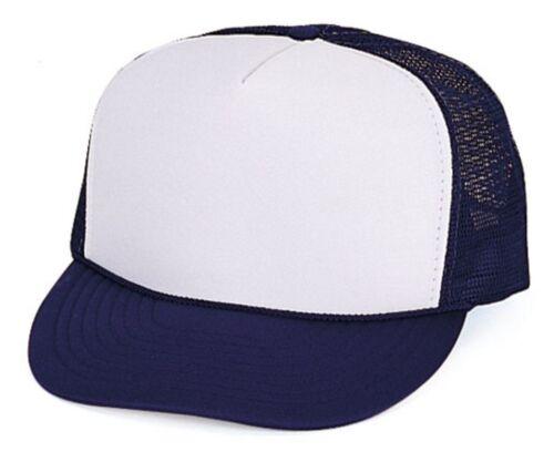 5 Hats Lot Foam Mesh 5 Panel Trucker Baseball Caps Youth Kids Children Boy Girl