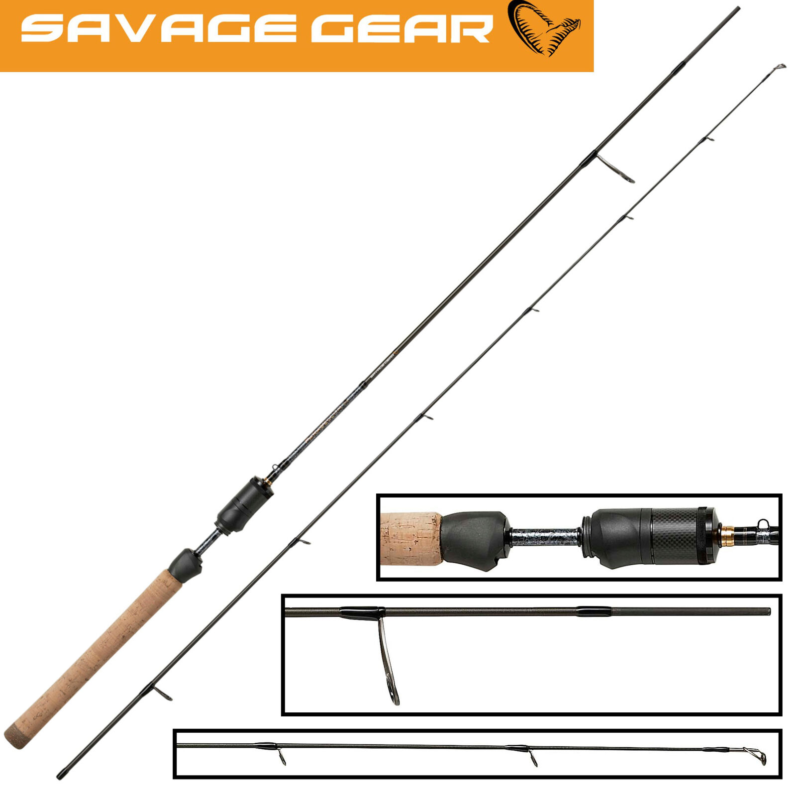 Savage Gear Parabellum CCS UL 1,85m 1-5g - Ultra Light Rute, Barschrute