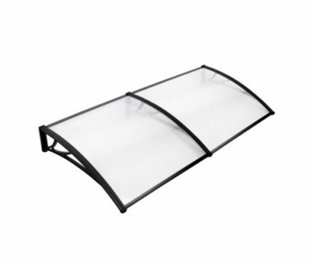 NEW DIY WINDOW DOOR AWNING COVER TRANSPARENT 100 X 200CM CANOPY BALCONY COVER