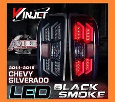 2014-2016 Chevy Silverado LED Tail Lights Black/Smoke Winjet WJ20-0383-05