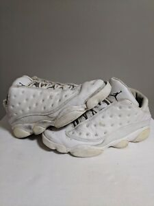 cheaper 19545 54e18 Image is loading Nike-Air-Jordan-13-Retro-XIII-Low-White-