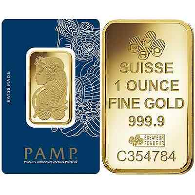 Twenty Five (25) 1 oz PAMP Suisse Gold bars - new in assay cards - FREE shipping