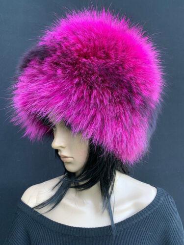 Silver Fox Fur Pilulier Chapeau Saga FURS regular femme taille bonnet de fourrure