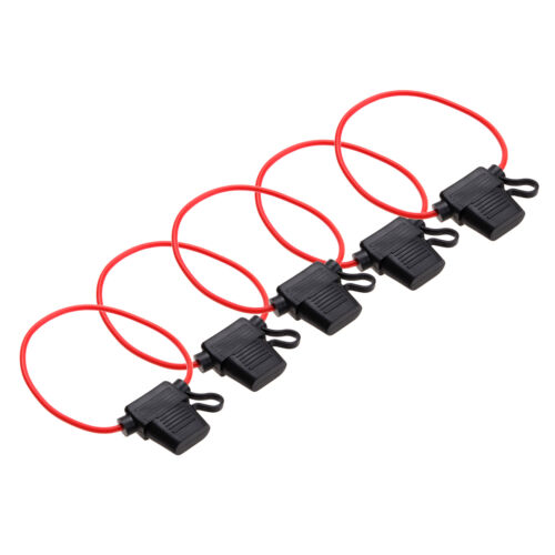 5 Pcs In-line Mini Blade Fuse Holder Splash Proof for 12V 20A Fuses Car