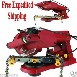 Electric-Chain-Saw-Sharpener-Grinder-Chainsaw-Mount-to-Bench-Wall-or-Vise-New
