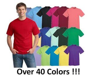 e7b917420380 Hanes Mens Short Sleeve Tees Tops Tagless 100% cotton T-Shirt S-3X ...