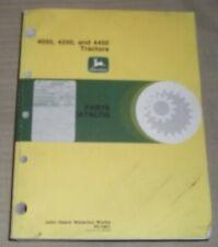 John Deere 4050 4250 4450 Tractor Parts Manual Book Catalog Pc 1901