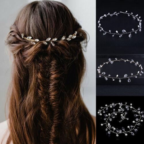 Women/'s Wedding Party Hair Band Bridal Crystal Pearls Headbands Hair Accessories