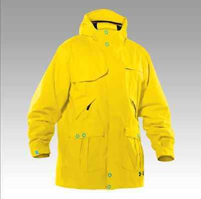 UNDER ARMOUR Mens Utility Shell Jacket size 2XL Bold Yellow Ski Snowboarding xxl