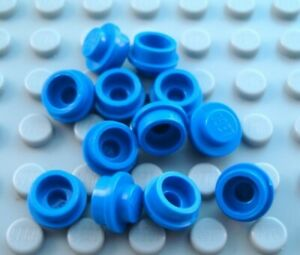 LEGO Lot of 12 Translucent Light Blue 1x1 Round Plates