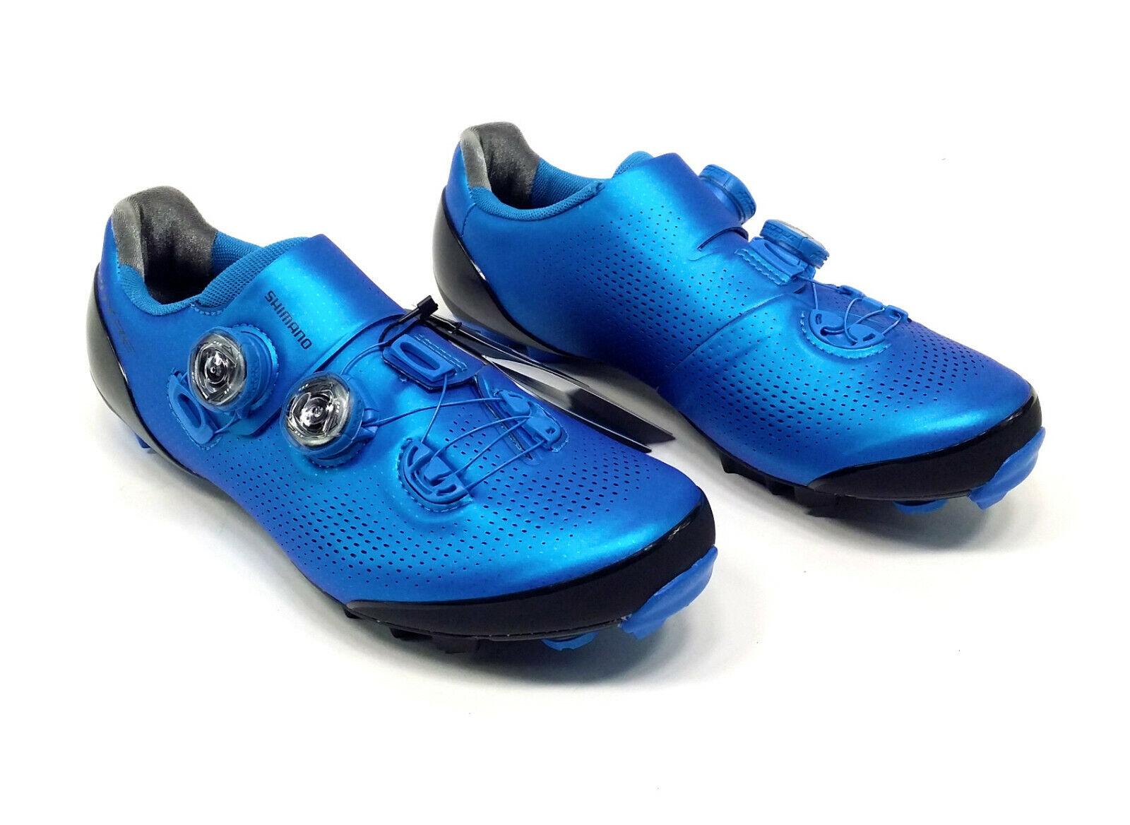 Shimano XC9 S-Phyre Zapatos de Bicicleta de montaña, Azul, US 7.6 UE 41
