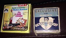 Vintage Betty Boop 16mm & The Odd Couple Black & White Super 8 Camera Movies