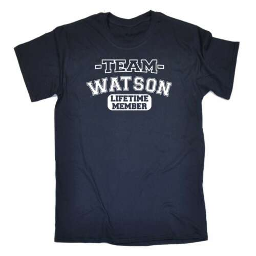 Men/'s Team Watson Lifetime Member Surname Gifts Family Funny T-SHIRT