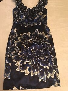 women-039-s-blue-sleeveless-Maggy-London-dress-size-4-Great-condition