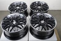 17 Black Effect Wheels Rims 4 Lugs Ford Escort Honda Civic Accord Corolla Jetta
