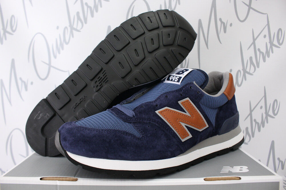 NEW BALANCE 995 SZ 11 NAVY BLUE BROWN MADE IN USA WINTER PEAKS PACK M995DCB