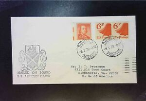 United-States-1975-Paquebot-Cover-S-Africa-Cancel-Z1900