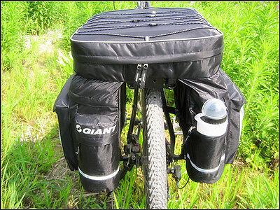 2016 New Cycling Bike Bicycle Rear Rack Seat Pannier Bag Waterproof + Rain Cover