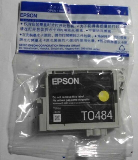 Original Epson T0484 Tinte yellow für Stylus Photo R200 R300 RX500 RX600 RX620 D