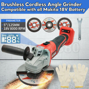 Cordless-Angle-Grinder-digital-display-Replaces-For-Makita-DGA504Z-18V-125mm-AU