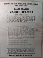 David Bradley 1948 Walk Garden Tractor Owner Parts Amp Service Manual 9175751