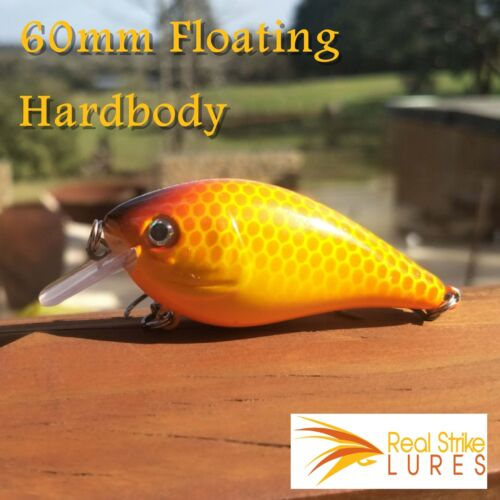 Orange Bream /& Cod Floating Fishing lures Trout Bass Barra Saltwater Freshwater