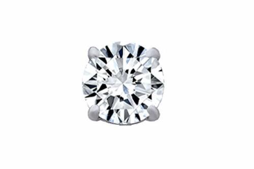 Natural Diamond Single Stud Screw Back Earring 14k Solid White Gold 0.02 Ctw