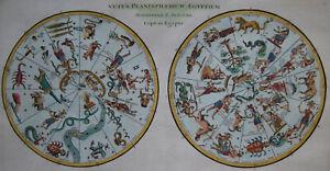 Vetus-Planisphaerium-Aegyptium-Athanasius-Kircher-Original-1700-Scarce